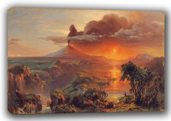 Church, Frederic Edwin: Cotopaxi. Fine Art Landscape Canvas. Sizes: A3/A2/A1 (001035)